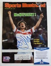John McEnroe Signed Autographed SI Tennis Magazine Cover Photo Beckett Certified