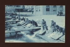 Italy Women washing clothes in river c19000/10s? PPC social history