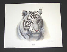 "Charles Frace Hand Signed Print ""White Tiger(Head)""  Limited Edition"