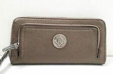 BNWT Authentic RELIC By FOSSIL Camden Zip Around Checkbook Wallet Pewter $36