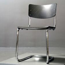 bis zu 10x Thonet Stuhl S 43, Stahlrohr Bauhaus grau lasiert Mart Stam 1931