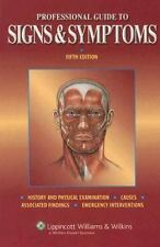 Professional Guide to Signs and Symptoms (Professional Guide Series)-ExLibrary