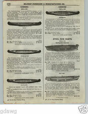 1922 PAPER AD Mullins Wood Wooden Canoes Canoe Sponson Harvard Princeton Yale