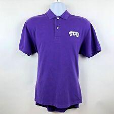 SOUTHERN TIDE Mens Purple Skipjack Polo Shirt TCU Horned Frogs Logo Size Medium