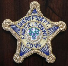 Sheriff's Department Fairfield County Connecticut CT Police Bullion Emblem Patch