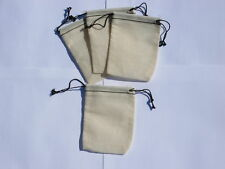 25x(2.75x4) Muslin Black Hem and Black Double Drawstring Bags