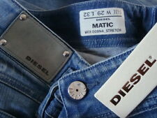 NWT DIESEL MATIC Leather Label Wash 008N4 Stretch Jeans Made in Romania Sz 29x32