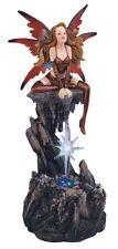 "8"" Red Fairy LED Light Crystal Star Statue Figurine Figure Fantasy Fairies"