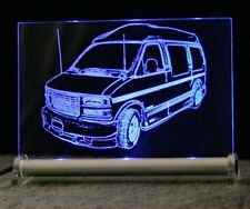 GMC Savana Van  AutoGravur auf LED LEUCHTSCHILD Display