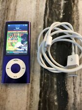 Ipod Nano 5th Generation 8gb Purple Fully Functional - NEW BATTERY