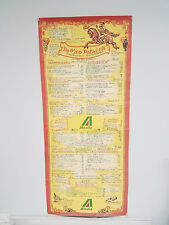VTG 1950's / 60's Alitalia Airlines Italian DeMeo Patacca restaurant menu poster