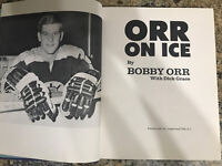 Orr on Ice hardcover autographed BOBBY ORR 1970 Boston Bruins Instructional book