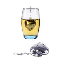 Heart Shaped Tea Infuser Spoon Strainer Stainless Steel Steeper