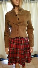 short brown suede jacket sz S by JennyferJ. Tear on front see pic