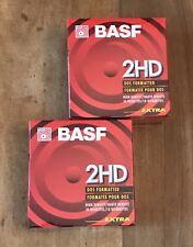 "Lot 20 BASF 2HD Diskettes 1.44MB 3.5"" Floppy Disks DOS IBM Formatted New SEALED"