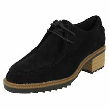 Clarks Lace-up Block 100% Leather Upper Heels for Women