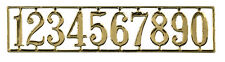Golden House Numbers Set, Ideal for a Dolls House. Door Accessory, Miniature.