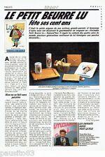PUBLICITE ADVERTISING 126  1986   le petit beurre LU  fete ses 100 ans