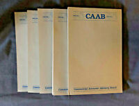Vintage PAN AM CAAB Unused Notepads (Approx. 45 sheets, x5)
