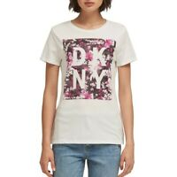 DKNY NEW Women's Short Sleeve Floral Print Logo Casual T-Shirt Top TEDO