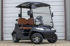 New 2021 Black / Saddle  Advanced EV 48V Electric Golf Cart 2 Passenger Cooler
