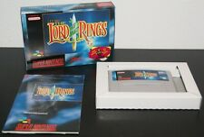 Nintendo Super Snes The Lord of the Rings PAL EUR MINT CIB Complete