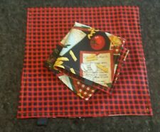 """Black Tag Hanks"" by Boneshaker - Edc Hankies - Chef'S Choice Pasta / Plaid"