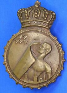 WW1? Unknown Air Defence Cap badge, Netherlands? H; 1¼ Inch           [22233]