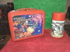 1984 VINTAGE THE TRANSFORMERS LUNCH BOX AND THERMOS  EXCELLENT CONDITION