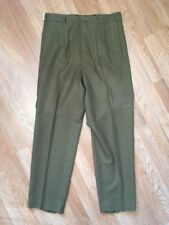 VTG 60s ~ WOOL ARMY DRESS PANTS ~ Olive ~ New With Tags ~ 35x30 ~ Military