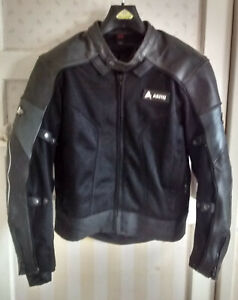 AKITO  LEATHER MOTORCYCLE JACKET..  size SM/40                 see description