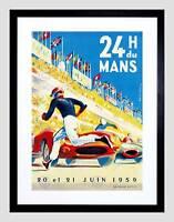 SPORT MOTOR RACE 24 HOUR LE MANS FRANCES BLACK FRAMED ART PRINT PICTURE B12X7782