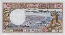 New listing New Hebrides , 100 Francs , Nd. 1977 , P 18d , series U. 1 , Rare