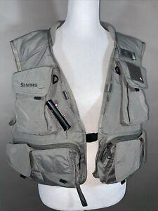 Simms Fly Fishing Women's Mesh lined Nylon outer Vest Sz Large EUC