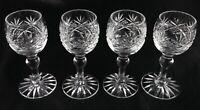 4 Beautiful English lead crystal vintage liqueur shot glasses Thomas Webb