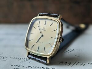 Gents Omega De Ville Cal 625 Gold Plated TV Dial Stepped Dress Watch - Working