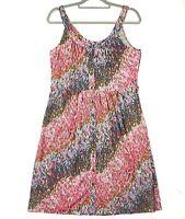 Leona Edmiston 'Ruby' Women's Sz 2 Multicoloured Sleeveless Casual Button Dress