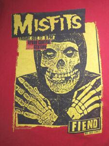 Retro Misfits Punk Horror Rock Band Music Fiend Club Red Small T-shirt