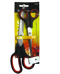 """NEW STAINLESS STEEL 2 PC 6"""" & 8"""" SCISSORS SET FOR KITCHEN ,OFFICE ,HOME"""