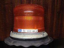 Vintage ECCO Amber Intensity Strobe Light 6950