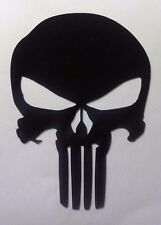"4"" Punisher Black Reflective 3M Vinyl Helmet, Car, Window, Laptop, Decal Sticker"