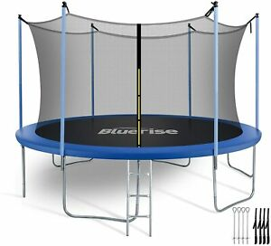 Bluerise Trampoline 55'' 6FT 8FT 10FT 12FT 14FT Trampoline for Adults with Enclo