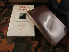 livre 1993 la pleiade album nerval rodhoid gallimard 284 pages