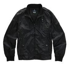 NII Mens Casual Back Side Detailed High Neck Jacket Jumper Black Size M NWT