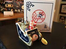 New York Yankees Danbury Mint 2008 Santa Sleigh Ornament With Box