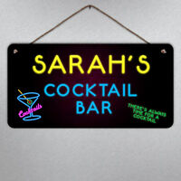 Personalised Metal Sign Plaque Custom Quote Gift Chalkboard Effect Fun