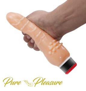 20 cm Realistic Dildo Vibrator - Multi-Speed - Unisex - Skin Safe TPE