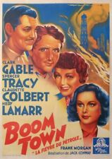 SOUBIE BOOM TOWN CLARK GABLE SPENCER TRACY LAFIEVRE DU PETROLE 1946 OLD POSTER