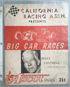 1960? ASCOT PARK Big Car Races CRA Racing Assn BILLY CANTRELL