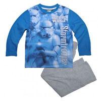 DISNEY pyjama garçon STAR WARS bleu et gris 4 6 8 ou 10 ans Stormtrooper NEUF